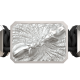 Forever in my Heart bracelet with ceramic and sculpture finished in a Platinum effect complemented with a black coloured cord.