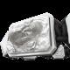Pulsera Proud Of You con cerámica blanca y escultura acabada en efecto Platino. Hilo negro.