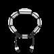 Pulsera Forever in my Heart con cerámica blanca y escultura acabada en efecto Platino. Hilo negro.