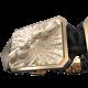Pulsera Forever In My Heart con cerámica y escultura acabadas en Oro Rosa de 18k. Hilo negro.