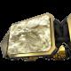 Pulsera I Love Me con cerámica y escultura acabadas en Oro Amarillo de 18k. Hilo negro.