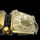 Pulsera I Love My Baby con cerámica y escultura acabadas en Oro Amarillo de 18k. Hilo negro.