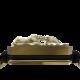 Pulsera Forever In My Heart con cerámica y escultura acabadas en Oro Amarillo de 18k. Hilo negro.