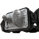I Will Fight till the End bracelet with black ceramic and sculpture finished in anthracite color complemented with a black coloured cord.