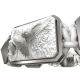 Miss You bracelet with ceramic and sculpture finished in a Platinum effect complemented with a white coloured cord.