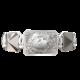 Pulsera I Love My Baby con cerámica y escultura acabadas en efecto Platino. Hilo blanco.