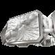 Pulsera Forever In My Heart con cerámica y escultura acabadas en efecto Platino. Hilo blanco.