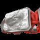 Pulsera Proud Of You con cerámica y escultura acabadas en efecto Platino. Hilo rojo.