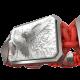 Pulsera Miss You con cerámica y escultura acabadas en efecto Platino. Hilo rojo.