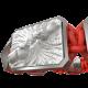 Pulsera Forever In My Heart con cerámica y escultura acabadas en efecto Platino. Hilo rojo.