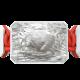 Pulsera I Love My Baby con cerámica blanca y escultura acabada en efecto Platino. Hilo rojo.