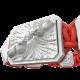Pulsera Forever In My Heart con cerámica blanca y escultura acabada en efecto Platino. Hilo rojo.