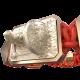 Pulsera I Will Fight till the End con cerámica y escultura acabadas en Oro Rosa de 18k. Hilo rojo.