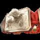 Pulsera My Family First con cerámica y escultura acabadas en Oro Rosa de 18k. Hilo rojo.