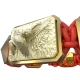 Pulsera Miss You con cerámica y escultura acabadas en Oro Amarillo de 18k. Hilo rojo.