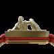 Pulsera I Will Fight till the End con cerámica y escultura acabadas en Oro Amarillo de 18k. Hilo rojo.