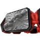Pulsera Forever In My Heart con cerámica negra y escultura acabada en color antracita. Hilo rojo.