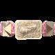 Pulsera Proud Of You con cerámica y escultura acabadas en Oro Rosa de 18k. Hilo rosa.