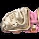 Pulsera I Quit con cerámica y escultura acabadas en Oro Rosa de 18k. Hilo rosa.