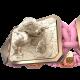 Pulsera My Family First con cerámica y escultura acabadas en Oro Rosa de 18k. Hilo rosa.