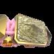 Pulsera I'm Different con cerámica y escultura acabadas en Oro Amarillo de 18k. Hilo rosa.