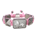 Pulsera I Will Fight till the End con cerámica y escultura acabadas en efecto Platino. Hilo rosa.