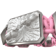 Forever In My Heart bracelet with ceramic and sculpture finished in a Platinum effect complemented with a pink coloured cord.