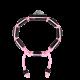 Pulsera Proud Of You con cerámica negra y escultura acabada en color antracita. Hilo rosa.