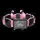 Pulsera I Love My Baby con cerámica negra y escultura acabada en color antracita. Hilo rosa.