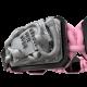 Pulsera I Quit con cerámica negra y escultura acabada en color antracita. Hilo rosa.