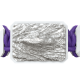 Pulsera I'm Different con cerámica blanca y escultura acabada en efecto Platino. Hilo violeta.