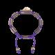 Pulsera Proud Of You con cerámica y escultura acabadas en Oro Rosa de 18k. Hilo violeta.