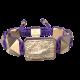 Pulsera I'm Different con cerámica y escultura acabadas en Oro Rosa de 18k. Hilo violeta.