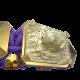 Pulsera I Love My Baby con cerámica y escultura acabadas en Oro Amarillo de 18k. Hilo violeta.