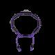 Pulsera I Love Me con cerámica negra y escultura acabada en color antracita. Hilo violeta.