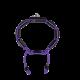 Pulsera Miss You con cerámica negra y escultura acabada en color antracita. Hilo violeta.