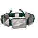 I'm Different bracelet with ceramic and sculpture finished in a Platinum effect complemented with a dark green coloured cord.
