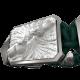 Pulsera Forever In My Heart con cerámica y escultura acabadas en efecto Platino. Hilo verde oscuro.