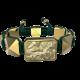Pulsera I Love Me con cerámica y escultura acabadas en Oro Amarillo de 18k. Hilo verde oscuro.