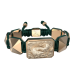 Pulsera Proud Of You con cerámica y escultura acabadas en Oro Rosa de 18k. Hilo verde oscuro.