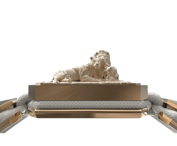Comprar Pulsera My Family First con cerámica y escultura acabadas en Oro Rosa de 18k. Hilo blanco.