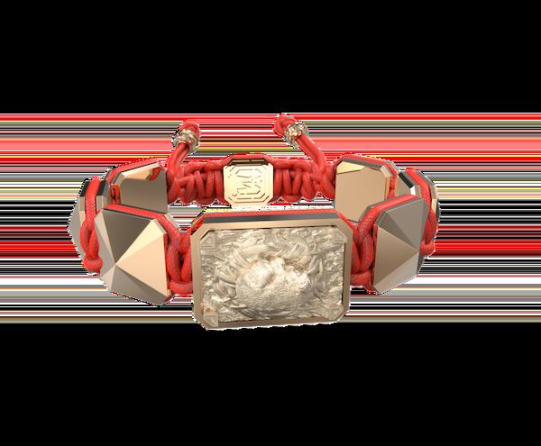 Comprar Pulsera I Love My Baby con cerámica y escultura acabadas en Oro Rosa de 18k. Hilo rojo.
