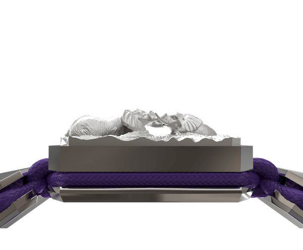 Shop Forever In My Heart bracelet with ceramic and sculpture finished in a Platinum effect complemented with a violet coloured cord.